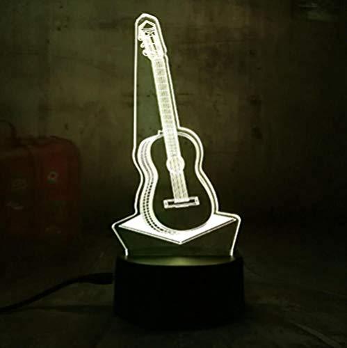 Nachtlicht 3D gitarre musik nachtlicht 7 farbwechsel touch tischlampe geschenk kinder schlafzimmer wohnzimmer home decoration3D Acryl LED Nachtlicht
