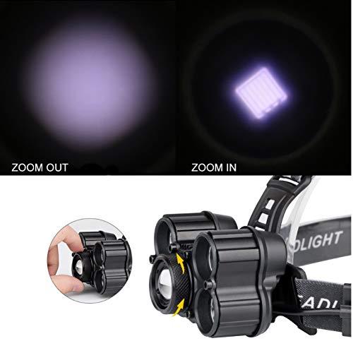 LED-Scheinwerfer USB-Ladescheinwerfer 40000 Lumen 4 Modi Taschenlampen für Camping, Wandern, Jagen