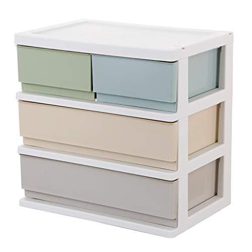 FANXM Desktop Aufbewahrungsbox Kunststoff mehrschichtige kleine Schublade Typ Büro Datei Kosmetik Aufbewahrungsschrank Kleinigkeiten Schmuck Aufbewahrungsbox (Kapazität : 1) (Datei Schublade Bücherregal)