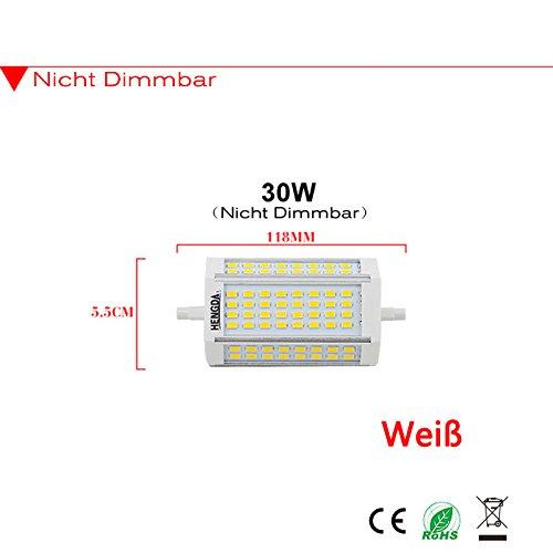 8W 14W 20W 30W SMD R7s LED Leuchtmittel 78/ 118 /189mm Stab Fluter Brenner Lampe (118mm/30watt, weiß)