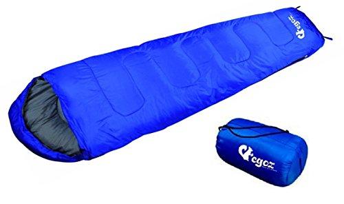 Almond Vot EGOZ Mumien schlafsäcke Einfach zu Tragen Blau Oder Schwarz Schlafsäcke Warm Erwachsene im Freien Sports Zelten Camping Wandern Mit Tragetasche (Blau)