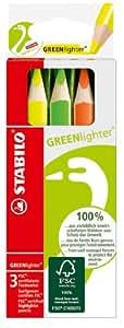 Stabilo Green Étui carton de 3 surligneurs Couleurs assorties