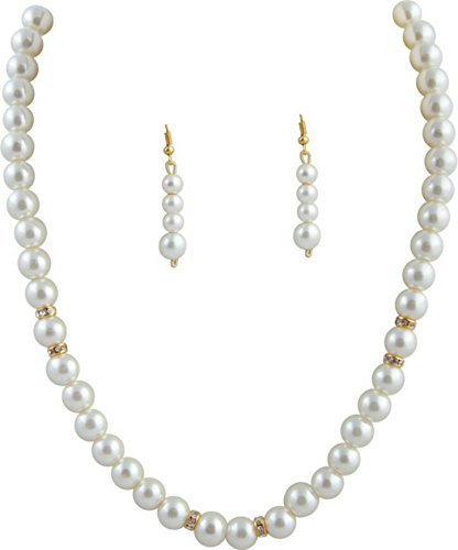 Freshme Fashion Jewellery Mother-Of-Pearl Necklace Set For Women (White)