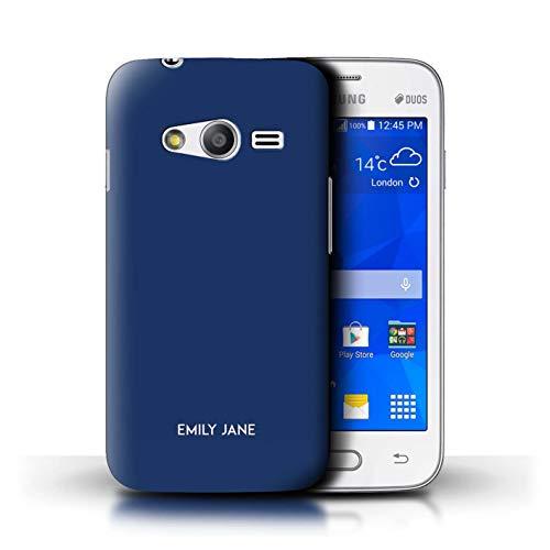 eSwish Personalizzato Tavolozza Colori Personalizzare Custodia/Cover per Samsung Galaxy Trend 2 Lite/G318 / Blu Notte Design/Iniziale/Nome/Testo Caso/Cassa