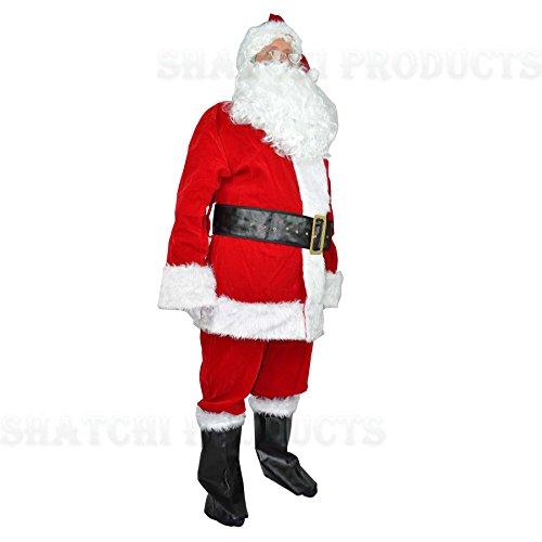GoodsOnline24/7 Costume da Babbo Natale, 8 Pezzi, Taglia XL