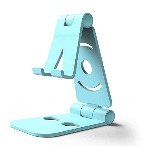 BEAUTPINE Supporto Girevole Pieghevole per Telefono da Auto Supporto Universale per Telefono Cellulare per Piccoli e Grandi Blu