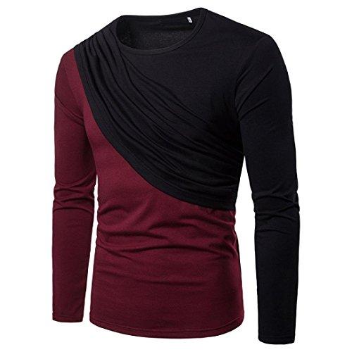 """Kanpola Sweatshirt Herren Pullover Lange Ã""""rmel Basic Langarm Oversize Shirt Slim fit Sweater Langarmshirt"""