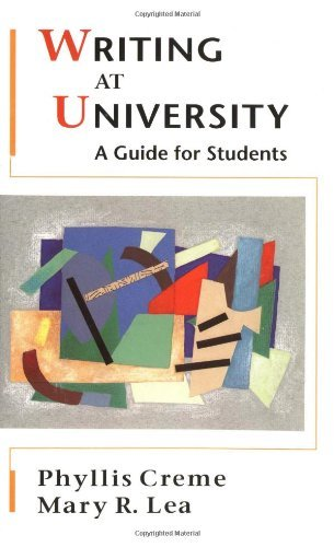 Writing at University: A Guide for Students by Phyllis Creme (1997-11-17)