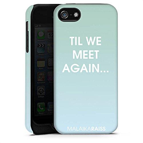 Apple iPhone X Silikon Hülle Case Schutzhülle Spruch Farbverlauf Mint Tough Case matt