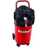 Einhell Compresseur TH-AC 200/30 OF (1100 W, Régime : 3.550 trs/min, Puisance d'aspiration : 200l/min, Débit d'air 0, 4, 7 bar : 165 l/m,  83 l/m, 60 l/m, Capacité de la cuve : 30 L, Cuve garantie 10 ans contre la corrosion)