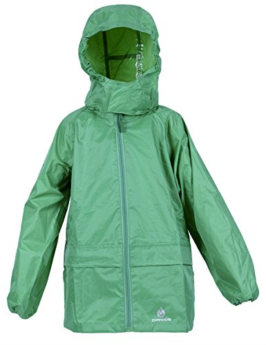 DRY KIDS Packaway Waterproof Jacket. Unisex coat ideal for Outside play. Matches DryKids overtrousers DK002