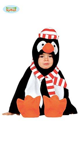 Baby Pinguin - Kostüm für Kinder Tier Karneval Fasching Braun Welpe süß Gr. 86/92, Größe:86/92