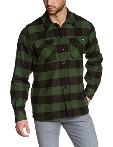 dickies-herren-regular-fit-freizeit-hemd-sacramento-gr-large-grun-pine-green-pg