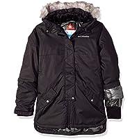 Columbia Carson Pass Mid Jacket Chaqueta Impermeable, niña, Negro, Talla M