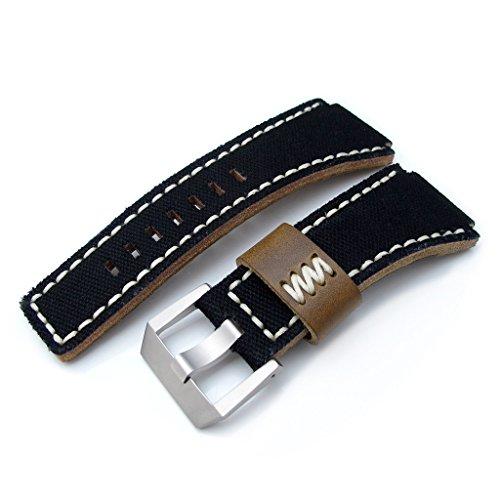 MiLTAT tela nera Bell Ross & BR01 di ricambio per cinturino orologio, in...