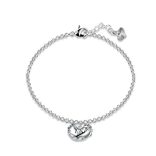 Daesar versilbert Armband für Frauen Sternzeichen Huhn Armband Silber Kette Länge: 17 + 3cm (Huhn-armband)