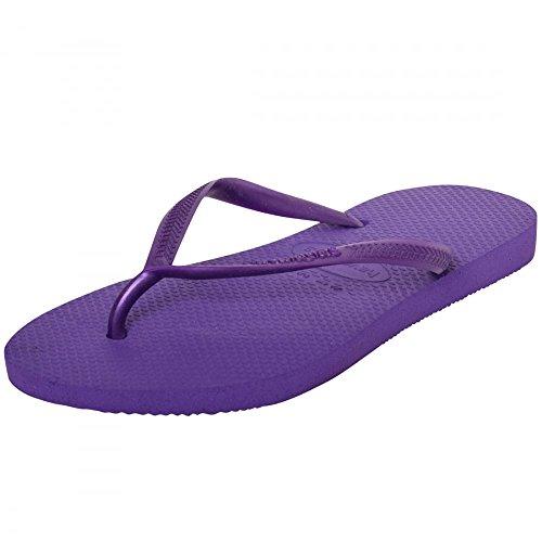 Havaianas Tongs femme Plage Vacances Chaussures Sandales de piscine pour homme slim Spirit - Dark Purple Slim