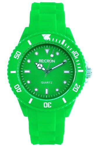 Grüne RE:CRON Damen Armbanduhr Analog Silikon // verschiedene Farben wählbar
