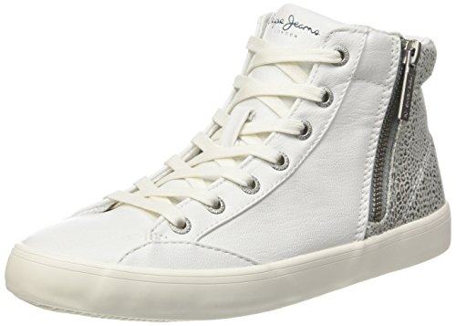 Pepe JeansClinton Break - Scarpe da Ginnastica Basse Donna , Bianco (Blanc (800White)), 37