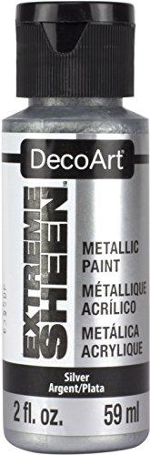 Deco Art Americana Extreme Glanz Jar der Farbe, Acryl, Silber, 3,5x 3,5x 10cm