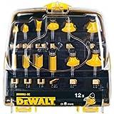DeWalt DR9992-XC - Pack de 12 fresas (vástago de 8 mm)
