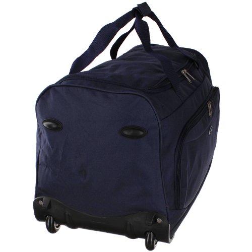 Eurotravel Reisetasche mit Rollen 66 cm (black) dark blue