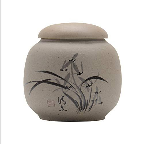 Cofre GuyuexuanPet, Latas de urnas, Ataúdes de Animales, Recuerdos de Muerte de Perros y Gatos, Latas de cerámica Hechas a Mano Selladas (Color : Orchid)