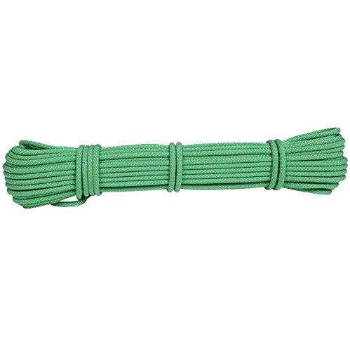 MFB Outdoor Stand Klettern Seil, 6 mm Durchmesser, Feuerleiter Sicherheit Rettungs Abseilen Seil mit Karabiner: 32_ft, 64_ft, 96_ft, 160_ft, 256_ft Optional (Farbe : Grün, Größe : 32ft)