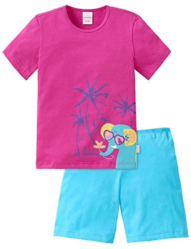 Kurze Mädchen Pyjamas (Schiesser Mädchen Zweiteiliger Schlafanzug Md kurz, Gr. 116, Rot (pink 504))
