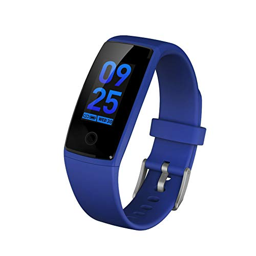 KTTZIP Activity Tracker con monitoraggio della frequenza cardiaca Smart Watch Donna Uomo Bambini Impermeabile Contapassi Cronometro per,Blue