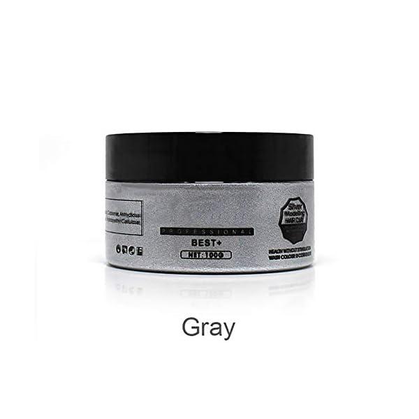 Xiton 1 pieza unisex Color de cabello cera para el cabello Tinte Crema Estilo de barro natural Peinado Pomada lavable…