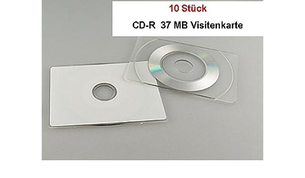 10 Stück Visitenkarten Cd R 37 Mb Rechteckig Ungelabelt
