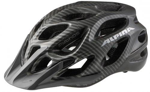 ALPINA Fahrradhelm Mythos 2.0 L.e, titanium stripes m, 57-62 cm, A 9671 3 16