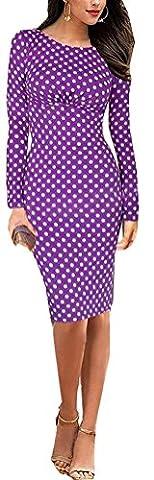 SunIfSnow Damen Schlauch Kleid, Gepunktet Gr. XL, violett