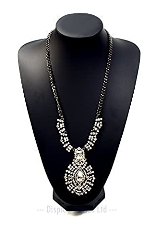 Extra Large Black Leatherette Necklace Display Bust 35cm tall