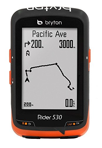 Bryton Rider 530H Velocímetro Computador GPS, Unisex Adulto, Negro, Talla Única