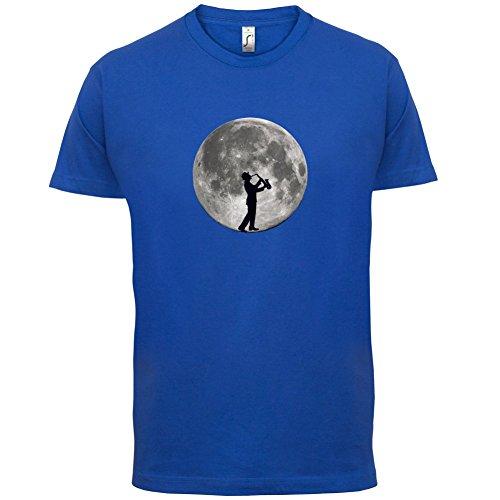 Saxophone Player Moon - Herren T-Shirt - 13 Farben Royalblau