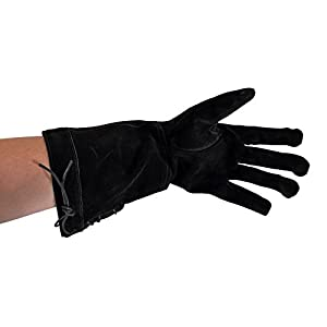Epic Armoury- Leather Gloves-Black-M Guantes, Color negro, medium (Iron Fortress 110140150)