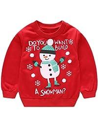 Robemon✬Hiver Noël Ensemble Bébé Fille Garçon Vêtements Col Round Manches  Long Unisex Toddler Kids e5c4ce1e766