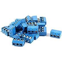 20 pezzi 3 pin 5 mm passo PCB vite Morsettiera 300 V 16 A AWG14-22 colore blu