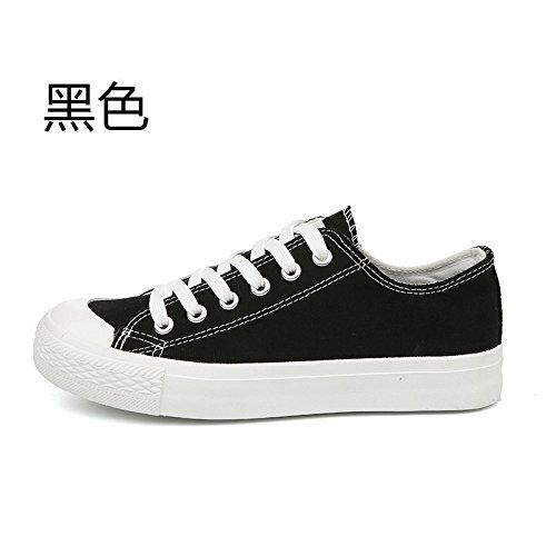 Wuyulunbi@ Bassa scarpe di tela calzature scarpe scarpe bianco Nero