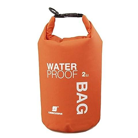 UEETEK 2L Ultra-portable Outdoor Travel Waterproof Dry Bag Pouch Téléphone Caméra Sac de rangement pour camping Nautisme Kayak Rafting Pêche (Orange)