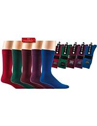 Herren-Socken 'Trendfarbe-Dunkel', 2er Pack, Farbe:Dunkelrot, Größe:39-42