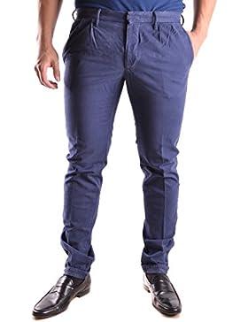 Incotex Hombre MCBI154033O Azul Algodon Pantalón