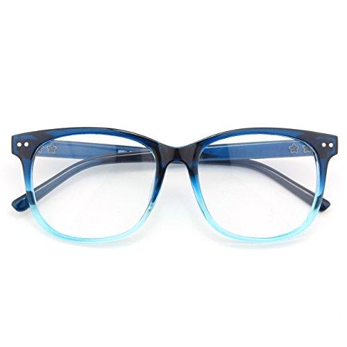 CGID CN81 Occhiali Grandi Oversize Montatura Spessa UV 400 Montatura in Corno Lenti Chiare