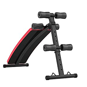 ZLL Sit-Ups, Home Supine Board, Lazy Exercise Machine, Vitality Abdominal Machine, Abdomen Machine,red,One size by ZLL