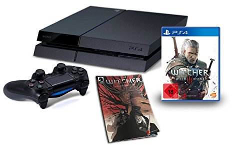 PlayStation 4 - Konsole (500GB) inkl. The Witcher 3: Wild Hunt +  The Witcher Killing Monsters (Comicbuch) (Video-recorder Bundle)