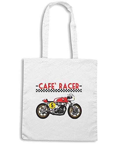 T-Shirtshock - Borsa Shopping TB0305 JAPANESE MOTORCYCLE CAFE RACER CB Bianco