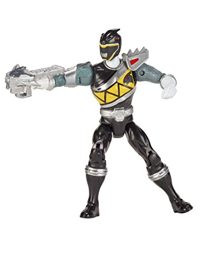 Power Rangers Dino Super Charge - 5 Dino Steel Black Ranger Acton Figure