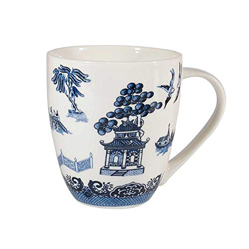 Churchill China Blue Willow Becher aus feinem Porzellan - weiß Churchill China Willow